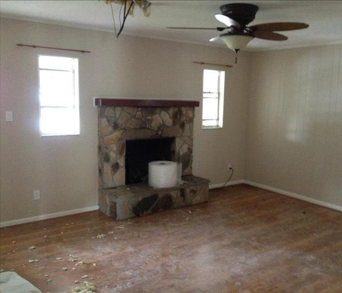 Living room in Lakeland home after experiencing water damage