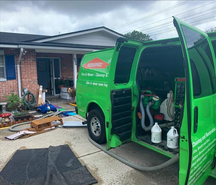 SERVPRO responding to a residential water loss