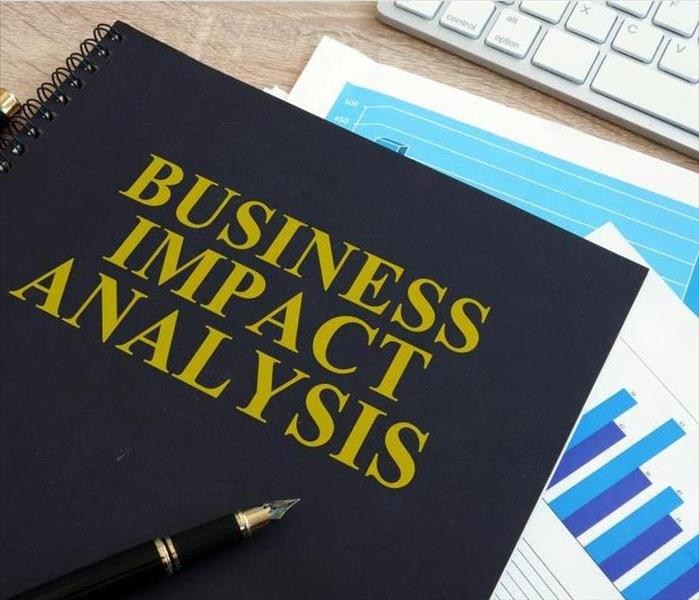 Notebook labeled Business Impact Analysis